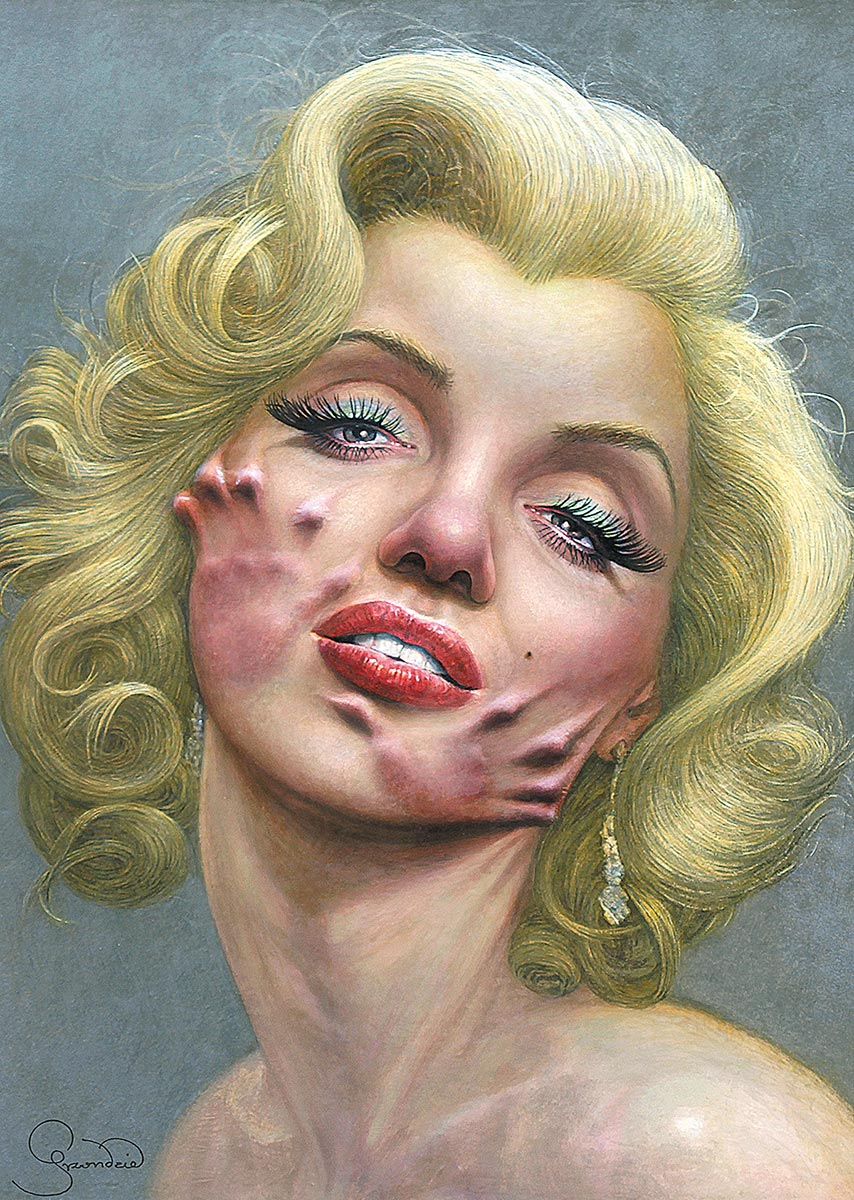 © Krzysztof Grzondziel | Marylin Monroe | REDMAN (Periodical of International Humor Art Biennale of China) | China | 2012