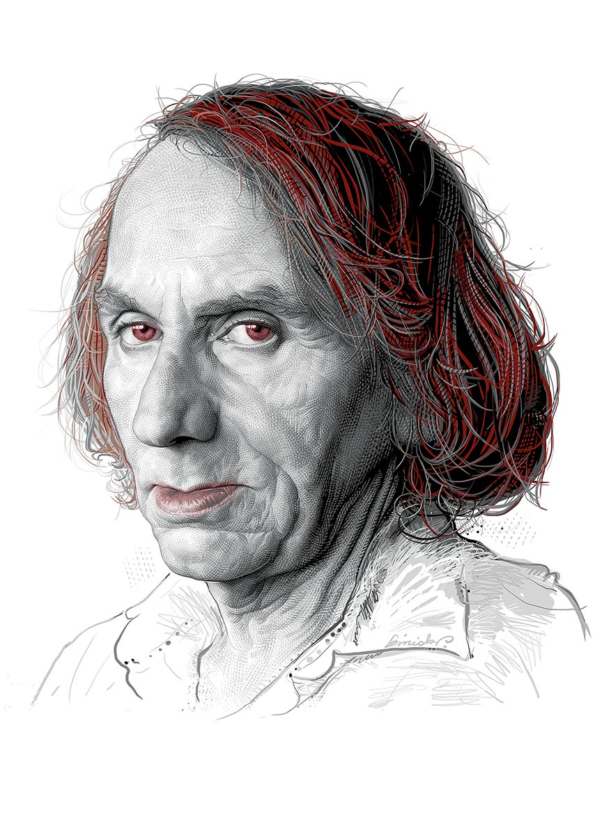 © Piotr Leśniak | Michel Houellebecq | KSIĄŻKI Magazine | Poland | March 2015
