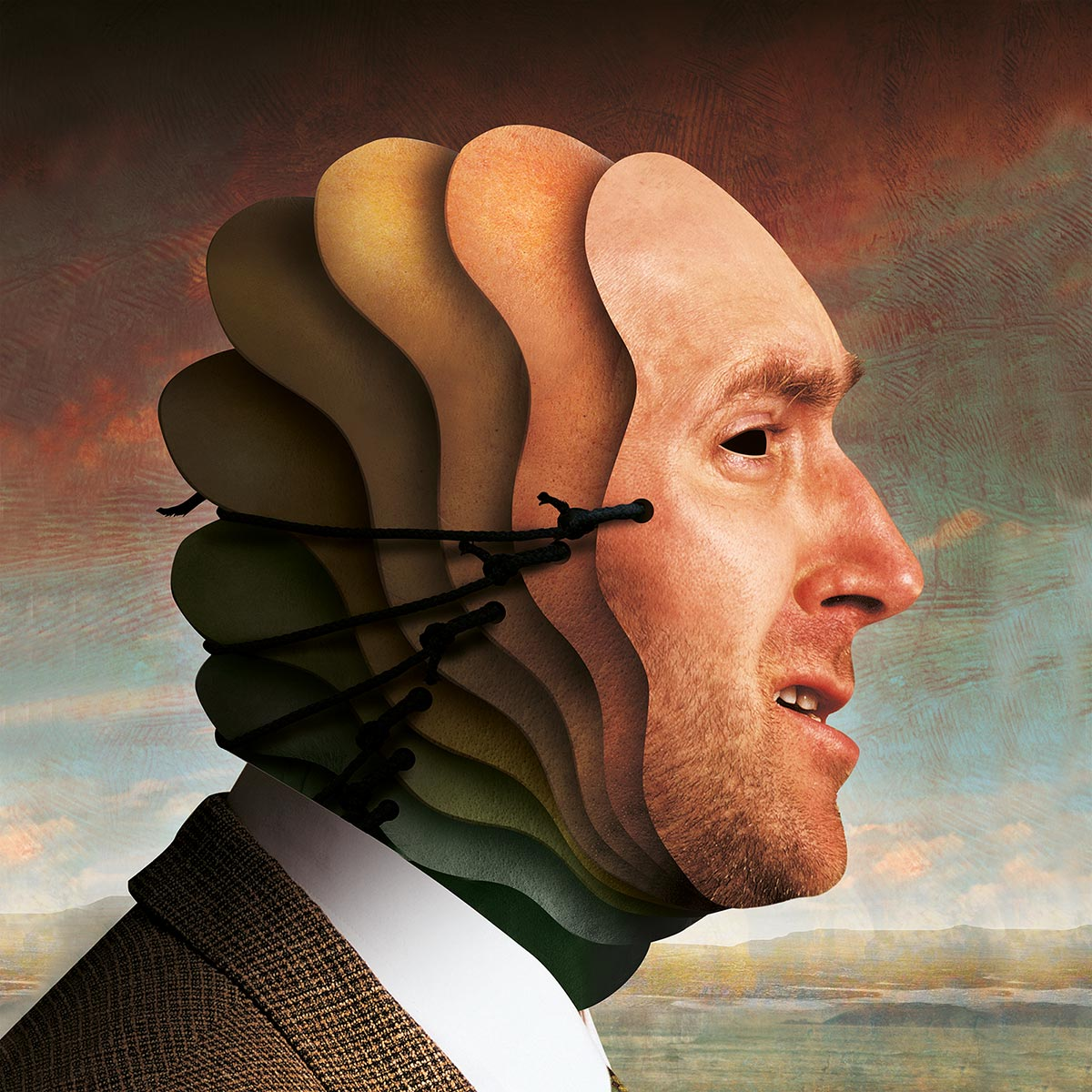 © Igor Morski | Illustration for a text on hiding true face by human. | CHARAKTERY Magazine | Poland | About 2006