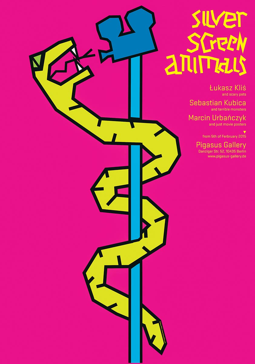 © Łukasz Kliś | Silver screen animals | PIGASUS Polish Poster Gallery w Berlinie | 2015