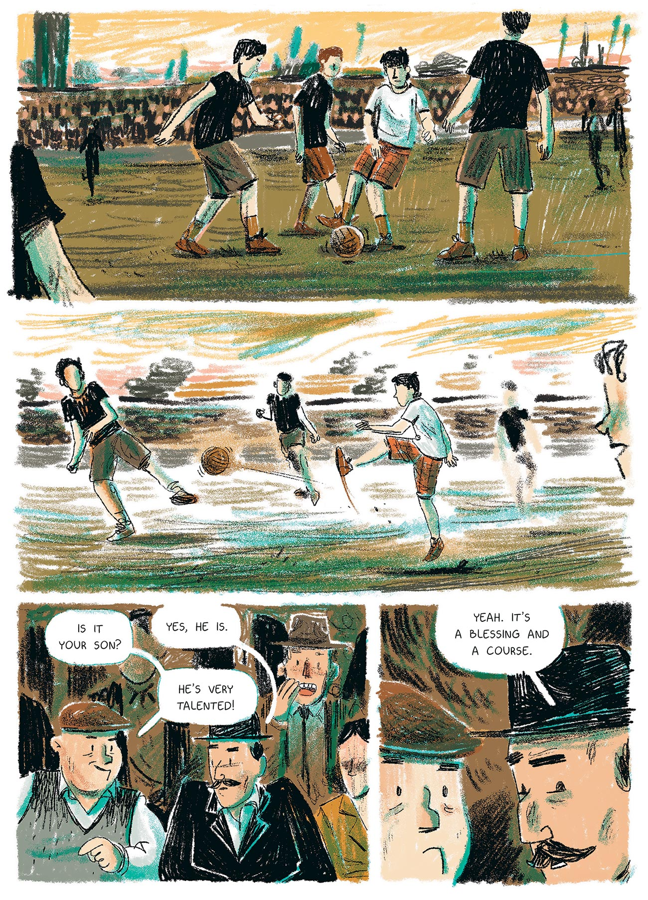 © Marcin Podolec | Ossi | A biographical comic about Oskar Rohr, football player. | Story: Julian Voloj. | Published by: Steinkis, 2019. | 2018
